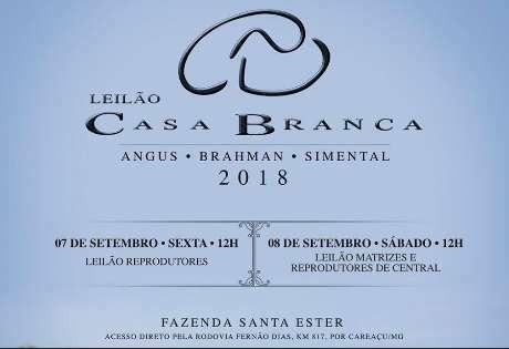 EM BREVE - LEILÃO CASA BRANCA