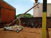 Rosca transportadora inox de 6000 mm helicoide de  180mm de diametro