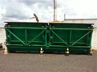 Transbordo de duas caixas, com capacidade de 6 toneladas por caixa, totalizando 12 ton