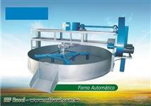 Forno para torrar farinha semi automático 2mt, capacidade 1300 kg/dia