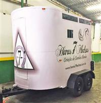 Trailer Carretinha para 2 Cavalos de Porte Grande