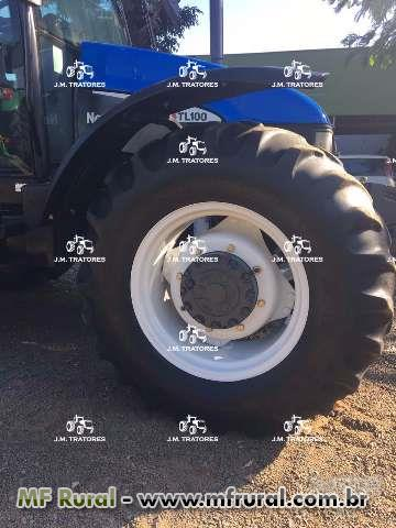 Trator New Holland TL 100 4x4 ano 00