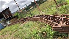 8 tesouras de 15 metros em arco para galpão