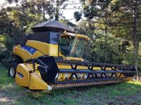 COLHEITADEIRA NEW HOLLAND CR9060 ELEVATION, 4X2,  DUPLADA, COM PLATAFORMA 30 PÉS, ANO 2013