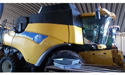 COLHEITADEIRA NEW HOLLAND CR9060 ELEVATION, 4X2, COM PLATAFORMA 30 PÉS, ANO 2008