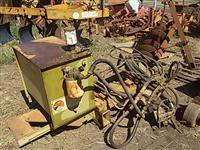 Parte roçadeira Kamaq roçocop hidráulico controle arrasto rodas ferro agrícola p/ trator massey John