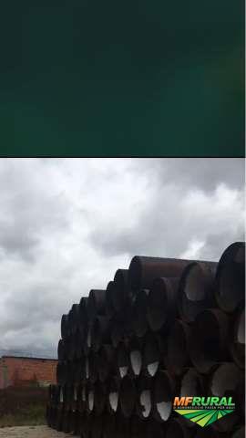 """TUBOS DE AÇO CARBONO NOVOS  DE 42"""" X 5/16 ESPESSURA COM 6 E 12 METROS COMPR."""