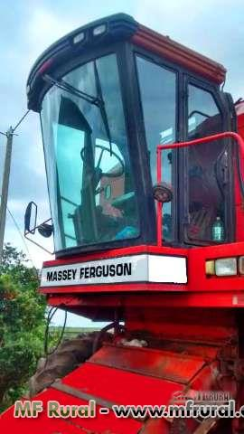 Colhetadeira Massey Fergusson MF 6855 ano 98 com plataforma