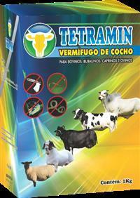 BRASILPHOS TETRAMIN 01 KG - (VERMÍFUGO DE COCHO)