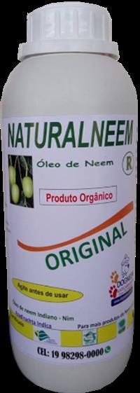 Óleo de Neem Puro emulsionado Naturaneem 1 Litro Original