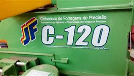 Conjunto forrageiro,1 colhedora c120 forrageira e 1 vagão forrageiro basculhante zero.