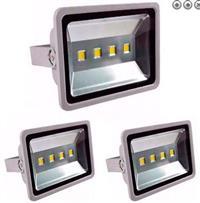 Kit Com 03 Peças - Holofote Refletor Led 200w Branco Frio