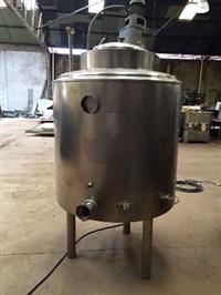 Misturador em aço inox 304 cap 750 litros com aquecimento