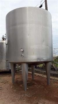 Tanque reservatorio aço inox 304 sanitario cap 5 mil litros com sistema de aqueciemnto