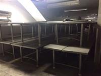 Mesas de Inox com Pé em Inox - #642