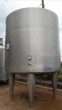 Tanque Reservatório em Aço Inox 304 Sanitário 5.000 l com Sistema de Aquecimento - #1503