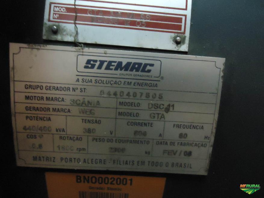USINA GRUPO GERADOR DIESEL 4 X SCANIA DSC 11 WEG/GTA 440/400KVA - #3534