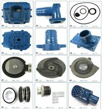 Kit para Motobomba, com Tampa, Rotor, Carcaça, Selo e Bujão - #3663