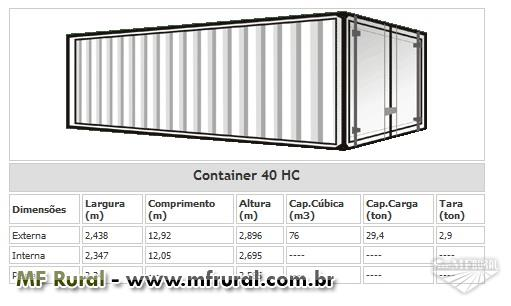 Container Marítimo Protainer 40 HC 12 metros
