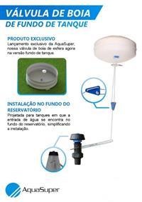 Válvula de Boia de Fundo de Tanque Reservatório / Bebedouro