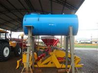 Tanque para diesel 2000 lts, com suporte, filtro e gatilho para abastecimento.
