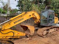 ESCAVADEIRA HYUNDAI, MODELO ROBEX 160LC-7, ANO DE FABRICAÇÃO 2008, COM 6.491 HORAS TRABALHADAS, ÚNIC