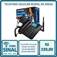 Telefone Celular Rural De Mesa Ca-40 Aquário Desbloqueado