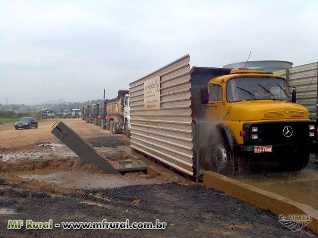 Lava rodas e chassi de caminhões, tratores maquinas fora de estrada