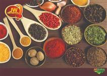 Temperos, especiarias e vegetais desidratados para exportação