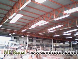Coberturas Metálicas,  Estruturas metálicas e Calhas RC METAL