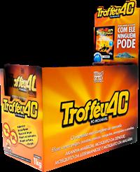Inseticida Trofféu 40 PM  - Caixa contendo 4 displays com 25 pacotes de 40g