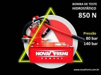 BOMBA DE TESTE HIDROSTÁTICO MODELO 850 N  – NOVAFREMI - PRESSÃO DE 80 OU 140 BAR