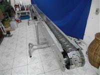 Esteira Transportadora com Corrente em Aço Inox - Com Motor Redutor Inversor