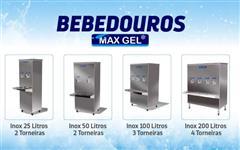 Bebedouros Inox MaxGel - 25 a 200 litros