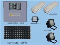 kit iluminação de guaritas ou containers