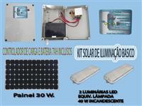 kit solar iluminação basica