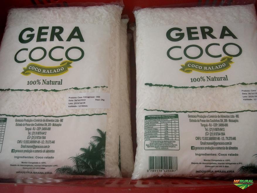 COCO RALADO CONGELADO 100% NATURAL