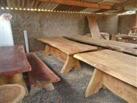 mesa de 3mt com 2 banco