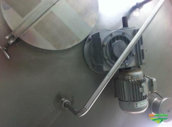 Tanque inox encamisado agitador 2000L