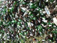 Cacos de Vidros para Reciclagem Vidro Branco / Amba e Verde
