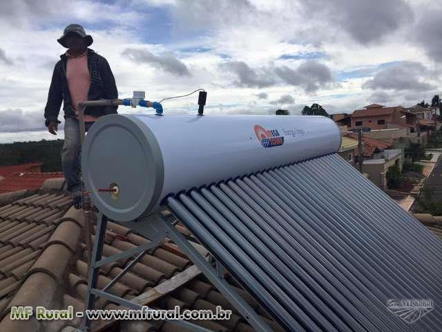 Aquecedor Solar com tubo à vácuo e controle automatizado