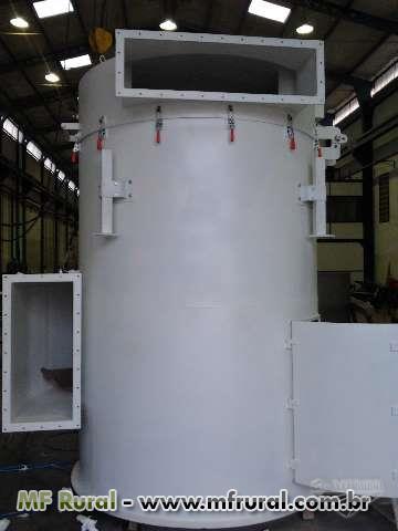 FILTRO DE MANGA PULSE JET MAXMILL - Para despoeiramento, aspiração, transporte pneumático e outros