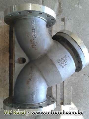 """Filtro Y 300 lbs  10""""  Total Inox"""