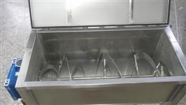 Misturador horizontal em aço inox para indústrias alimentícias, agrícolas, químicas, plásticas
