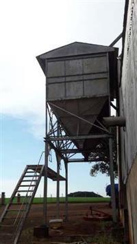 expedição, caixa de carregamento, silo suspenço
