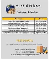 Paletes de Madeira - Todos os modelos