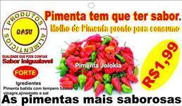Pimenta tem que ter sabor