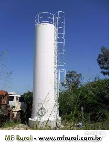 Reservatório Tubular 8 m³ - Fabricação de Reservatórios Metálicos para Água / Combustível