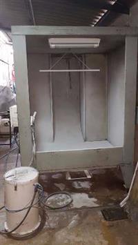 Cabine de Pintura Eletrostática 2,5 x 1,5 com 4 filtros