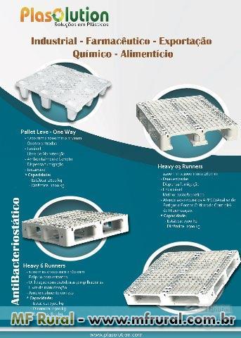 PALLET PLÁSTICO - FRIGORIFICOS-AGROTOXICOS-ALIMENTOS-FARMACEUTICOS-LATICINIOS ETC